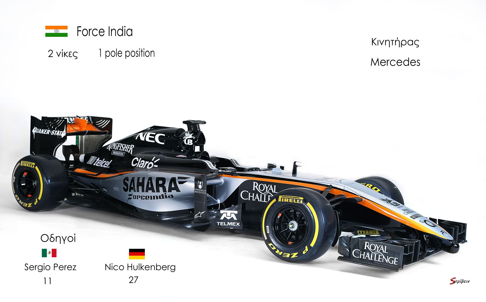 Sahara Force India F1 Team livery reveal. Sahara Force India F1 Team Livery Launch, Soumaya Museum, Mexico City, Mexico. Wednesday 21st January 2015.