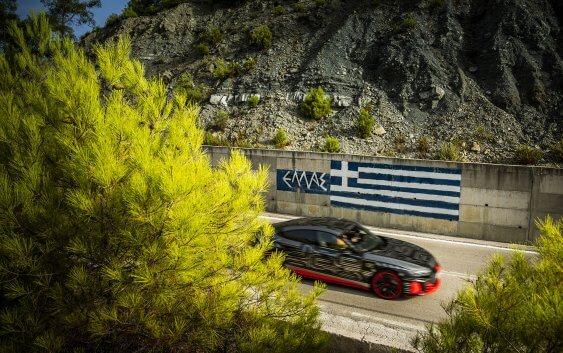 Παγκόσμια παρουσίαση του Audi RS e-tron GT στη Ρόδο